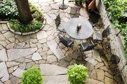 Оформляем садовые дорожки природным камнем своими руками
