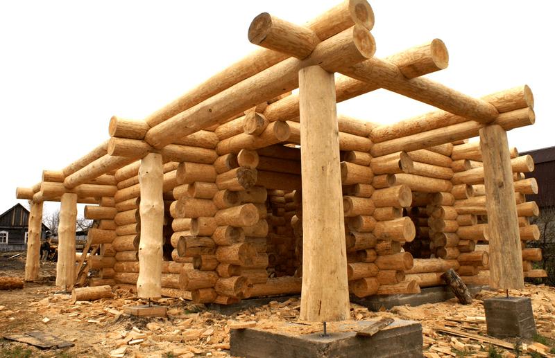 Строительство сруба бани