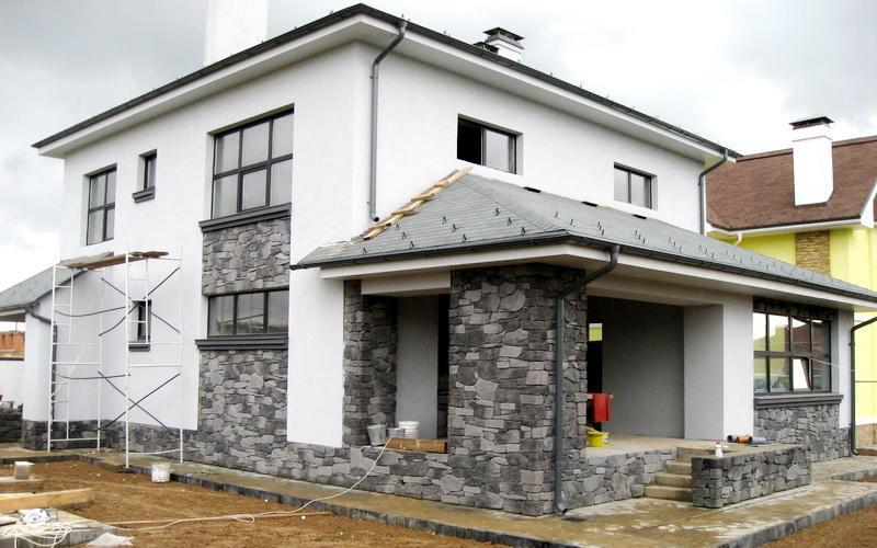 Отделочный камень для наружных стен дома своими руками 13
