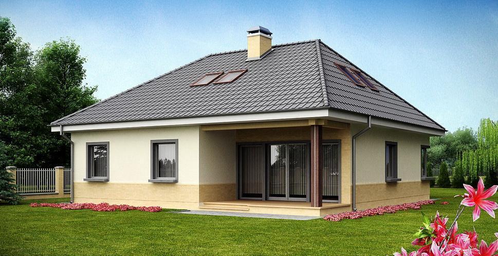 Наиболее распространены варианты с двускатной и т.н. мансардной крышей.