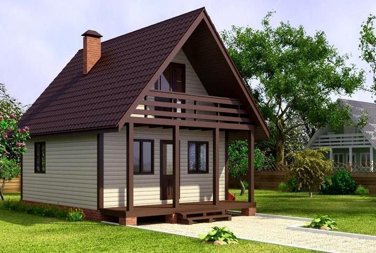 Важное ограничение при строительстве двухэтажных дач или домов с мансардами – такой дом должен иметь качественный, прочный, желательно кирпичный или железобетонный фундамент