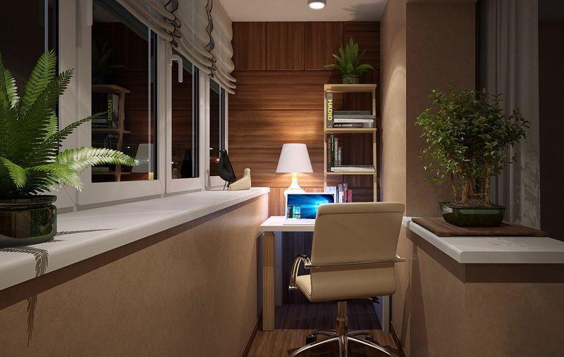Создаем интерьер лоджии своими руками в квартире или доме.