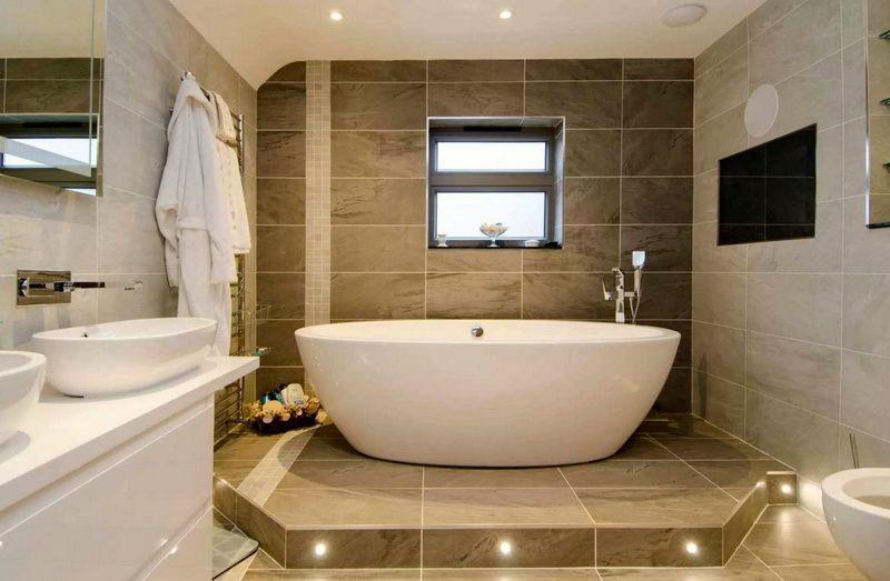 Оформление ванной комнаты: дизайн 45